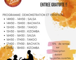 Portes Ouvertes Nevers Danse Latine le 6 septembre 2020